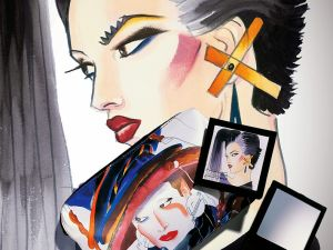 Fashion illustration by Antonio Lopez for M.A.C.