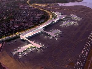 A rendering of the new LaGuardia.