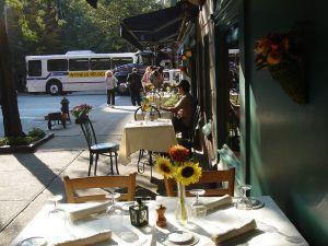 A sidewalk cafe.