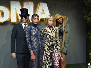 Singer Robyn (2nd-R) and bandmates attend the 2016 Museum of Modern Art Party in the Garden at Museum of Modern Art on June 1, 2016 in New York City.