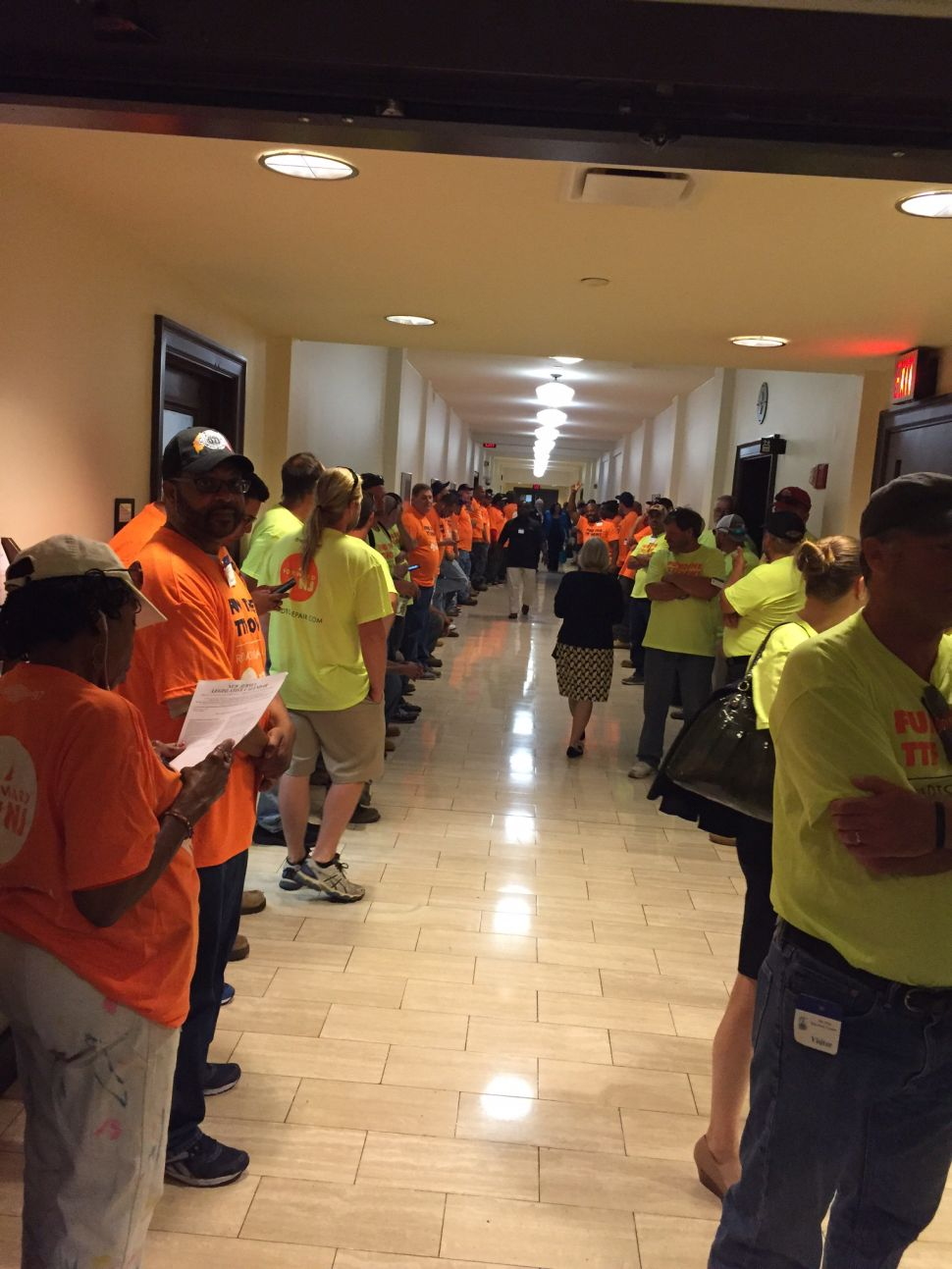 Labor Floods the Statehouse Ahead of TTF Vote