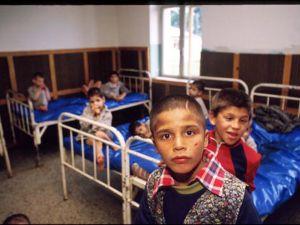 Orphaned children in Ploiesti, Romania, 1990.