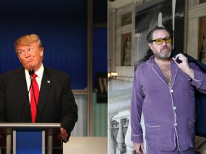 Donald Trump and Julian Schnabel: authors, influencers.