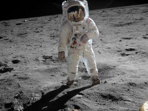 Buzz Aldrin on the Moon.