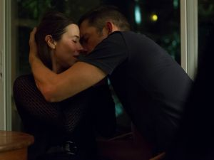 Linda Cardellini and Enrique Murciano in Bloodline.