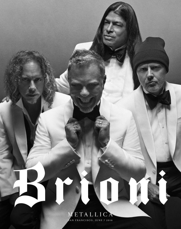 Metallica Fronts Brioni's Campaign Under New Creative Director