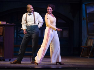 Brandon Victor Dixon and Audra McDonald in 'Shuffle Along.'