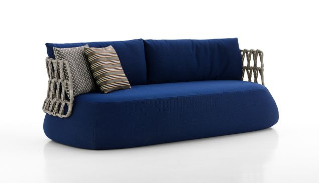Fat-Sofa Outdoor by Patricia Urquiola, from $9,732, B&B Italia Soho, 138 Greene Street, New York, NY, 10012, 800-872-1697.