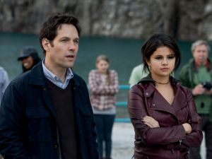 Paul Rudd and Selena Gomez in The Fundamentals of Caring.