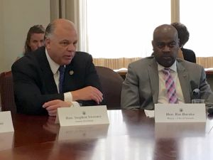 Senate President Sweeney and Newark Mayor Baraka.