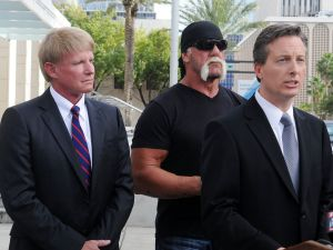 Hulk Hogan and his attorneys in Florida last year.