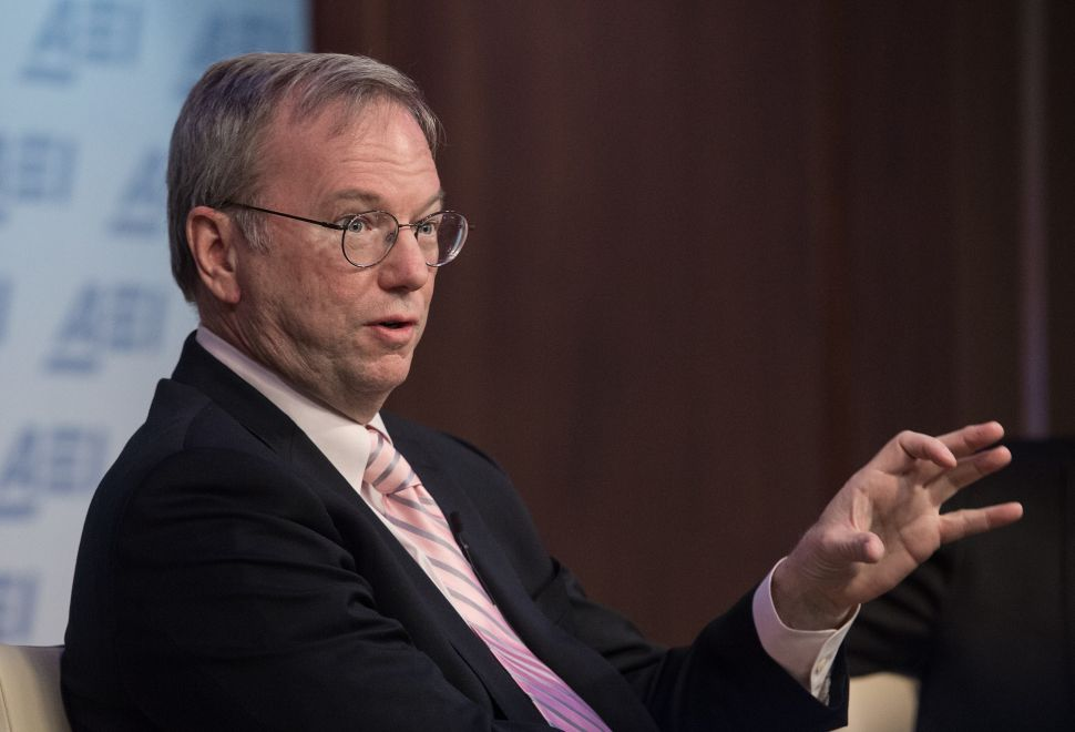 Google's Eric Schmidt: The West No Longer Tries to Solve Big Problems