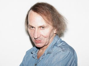 BERLIN, GERMANY - FEBRUARY 08: (EDITORS NOTE: This Picture has been digitally retouched. Available for 14 days after create date.) French author Michel Houellebecq by Photographer Francois Berthier for the Contour Collection poses at the Film Haus Arsenal during the 64th Berlinale International Film Festival on February 8, 2014 in Berlin, Germany.