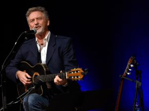 NASHVILLE, TN - AUGUST 15: Singer/Songwriter Larry Gatlin Songwriter - Session in the Ford Theater at the Country Music Hall of Fame and Museum on August 15, 2015 in Nashville, Tennessee.