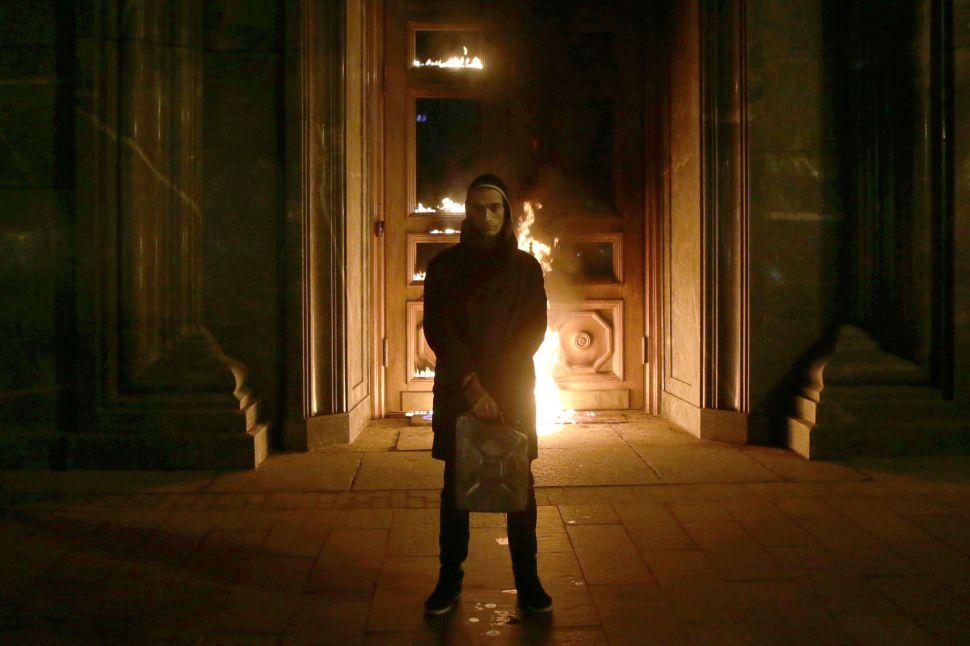 After Setting Former KBG Headquarters Ablaze, Dissident Artist Walks Free
