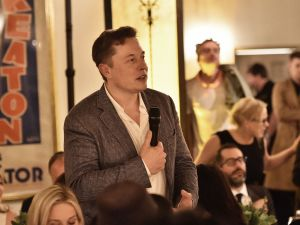 Elon Musk attends The Dinner For Equality co-hosted by Patricia Arquette and Marc Benioff on February 25, 2016 in Beverly Hills, California.