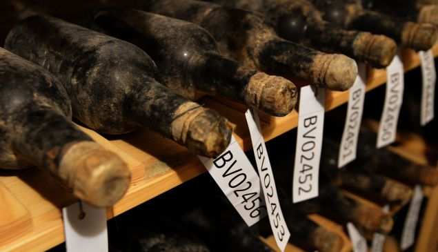 An extraordinary collection of 133 bottles of wine from the 19th century has been discovered at a Czech castle.