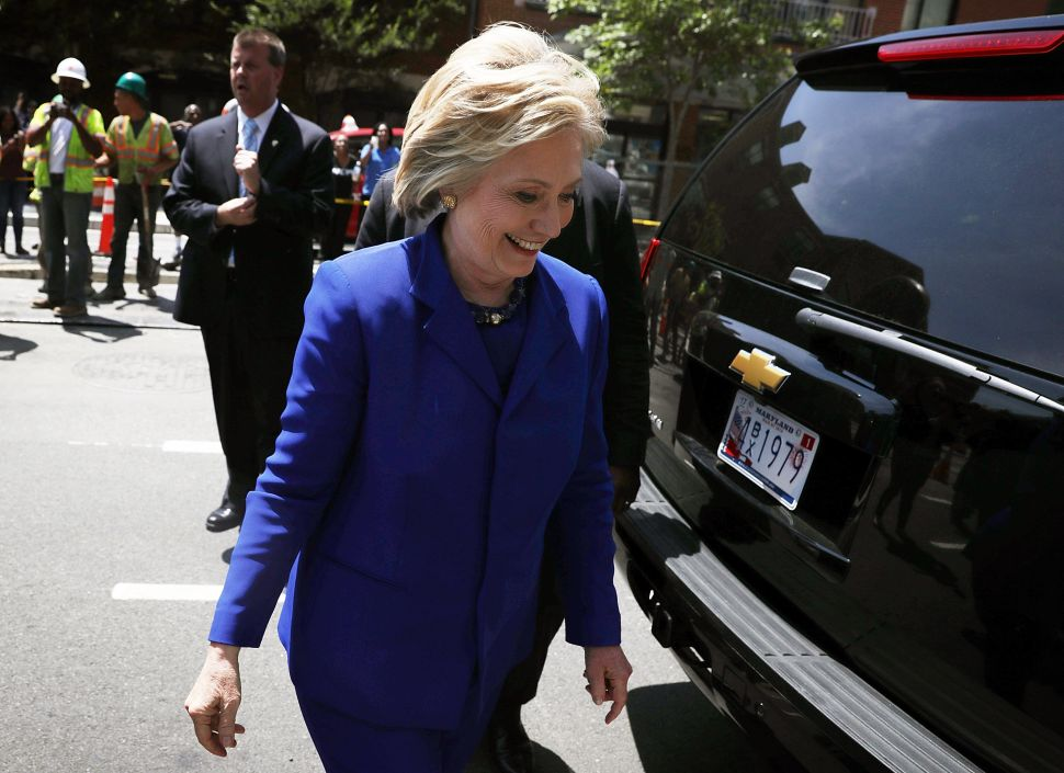 Hillary Has the Edge at the Starting Gate