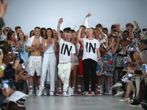 "Sid Bryan and Cozette McCreery of Sibling make a statement with their ""In"" t-shirts"