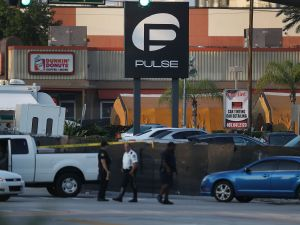 The Pulse nightclub in Orlando, Florida, following a mass shooting.