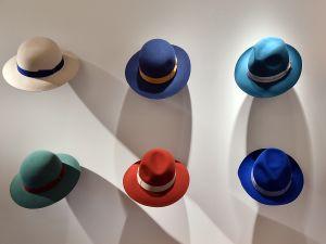 Borsalino hats on display