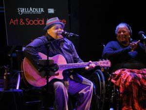Toshi Reagon and Toni Morrison attend Art & Social Activism, a discussion on Broadway with Ta-Nehisi Coates, Toni Morrison and Sonia Sanchez . (