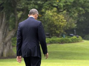 President Barack Obama walks to Marine One on the South Lawn of the White House June 16, 2016 in Washington, DC. President Obama will travel to Orlando to pay respects to the victims of Sunday's nightclub shooting and to stand in solidarity with the community.