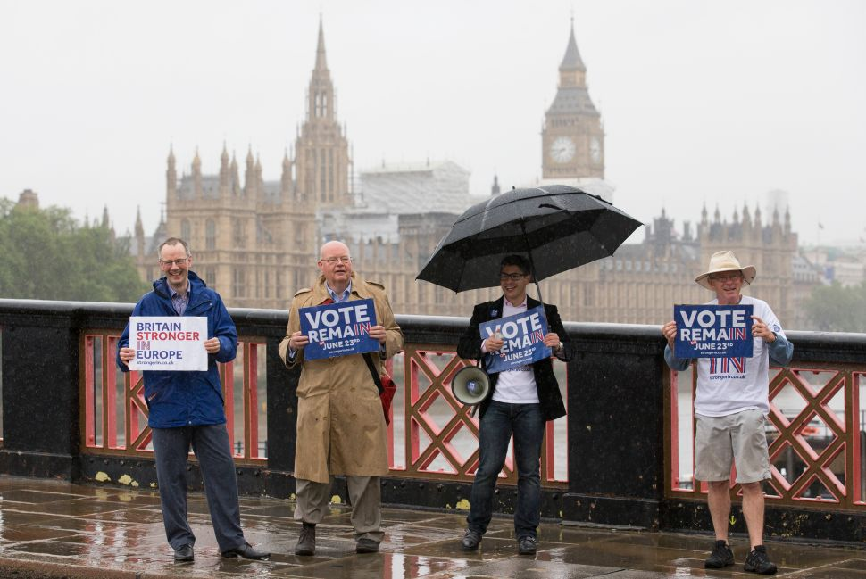Brexit or Remain, the Elites Have Their Hands Full