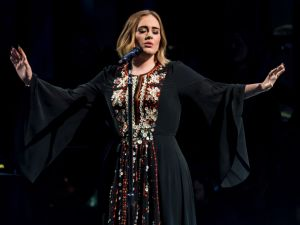 Adele Performs at Glastonbury, wearing Burberry: Photo: Ian Gavan, Getty Images