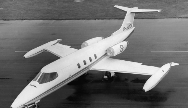 A Gates Learjet 25 executive jet.