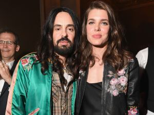 Alessandro Michele and Charlotte Casiraghi