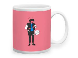 """French illustrator Gwendal Le Bec tells women to """"Vote Hilary"""" in this election themed mug."""