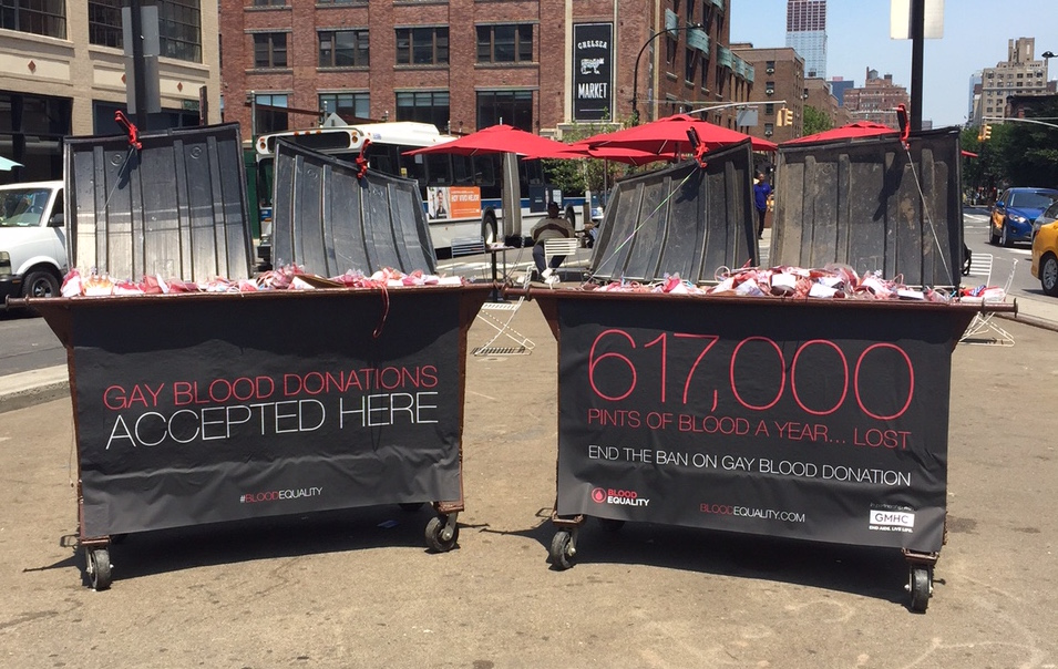 These Blood-Filled Dumpsters are Part of an Art Installation