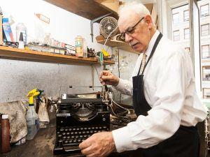 Owner, Paul Schweitzer at Gramercy Typewriter Co.