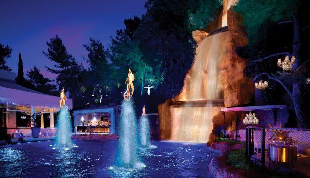 The lagoon at Intrigue, the new club at Wynn Las Vegas