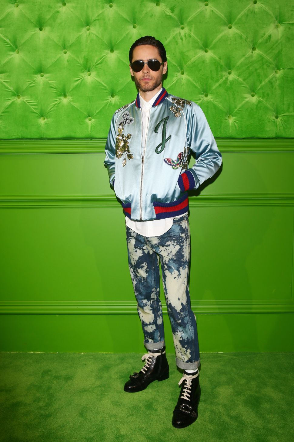 Jared Leto Is the First Celeb to Wear Gucci's DIY Collection