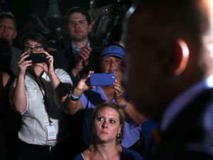 "WASHINGTON, DC - JUNE 22: U.S. Rep. John Lewis (D-GA) speaks to gun control activists who gather outside the Capitol after House Republicans have forced votes as House Democrats stages a sit-in on the House floor June 22, 2016 on Capitol Hill in Washington, DC. House Democrats are staging a sit-in on the House floor to demand Speaker Rep. Paul Ryan (R-WI) not to recess the House without voting on legislation including the bipartisan ""No Fly, No Buy"" legislation and a universal background check bill."