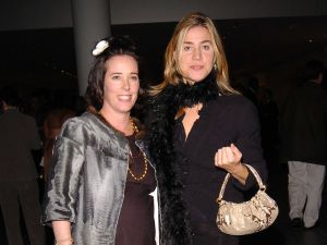 Kate Spade and Pamela Bell, with what we hope to be mini Kate Spade purses circa 2004.