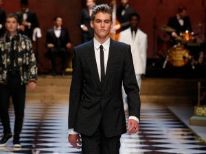 Presley Gerber on the Dolce & Gabbana runway