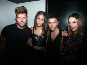 Ricky Martin, Cindy Bruna, Olivier Rousteing, Alessandra Ambrosio