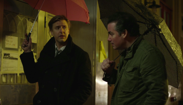 """Kevin Corrigan (right) and Jayce Bartok star in """"The Holdouts,"""" a new comedy web series New Yorkers who can't keep up with New York prices."""