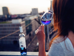 Blue wine, anyone?