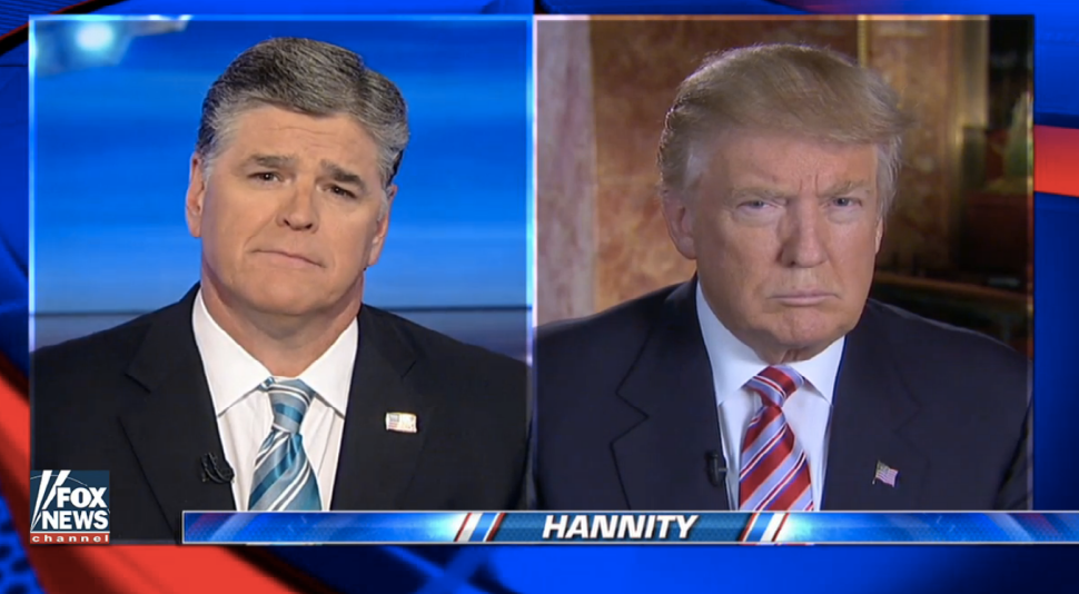 Hannity and Trump Stick to Safe Subjects: ISIS, Clinton and CNN