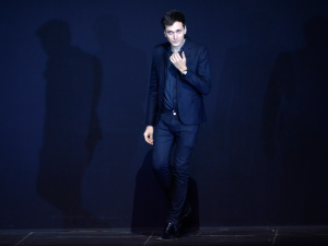 Hedi Slimane takes a bow on the Saint Laurent runway