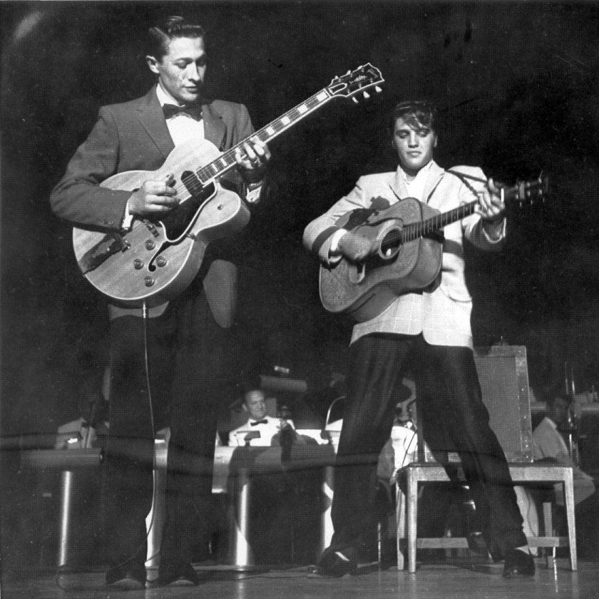 Scotty Moore's Influence on Guitar Playing Rivals Elvis' on Rock 'n' Roll