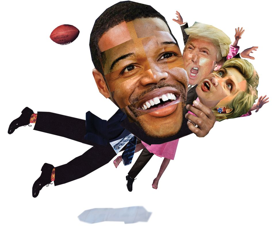 Will Michael Strahan Go From Locker Room Leader to Leader of the Free World?