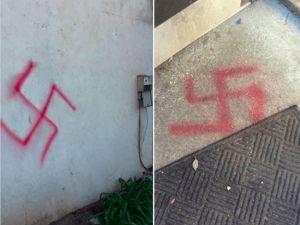 Jewish fraternity at UC Davis vandalized with Swastikas.