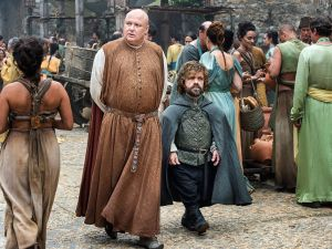 Zero question about the fabulousness of Tyrion's cape.