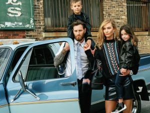 Karlie Kloss and her Versace family