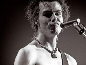 This is not the photo of Sid Vicious under discussion. That one is protected by copyright.